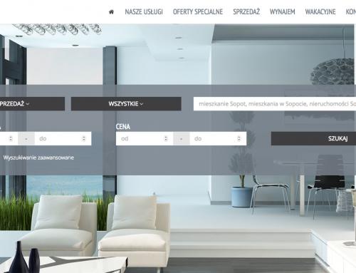 Redesign strony agencji Extra Nieruchomości z Sopotu