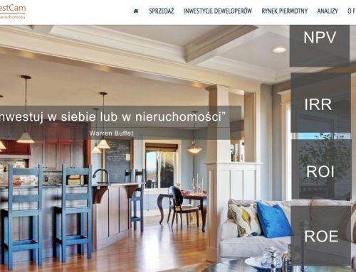 Strona biura nieruchomości InvestCam