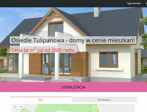 Nowa strona inwestycji Osiedle Tulipanowa